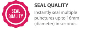 Tire Sealant: TireCare instantly seal multiple punctures