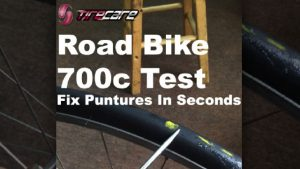 Tire Sealant: Road Bike 700c with TireCare Bicycle Sealant