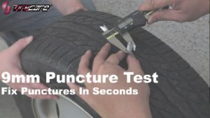 Car tyre sealant puncture test