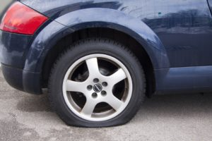 flat tire without TireCare tire sealant