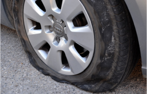 tire puncture without TireCare car tire sealant